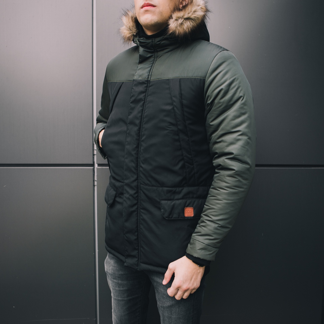 Куртка ALASKA (вставка хаки)