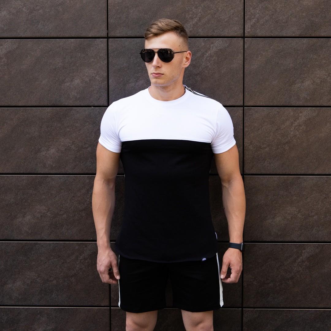 Мужская футболка Farbovanij lis (черно-белая)